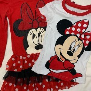 💙3/$20 5T Girls Minnie Mouse Disney Set